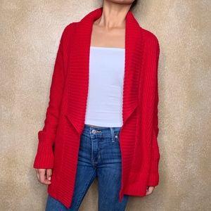 CHICO'S   Red Cardigan